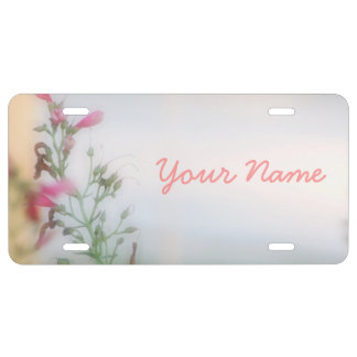Customized Floral Photo License Plates License Plate