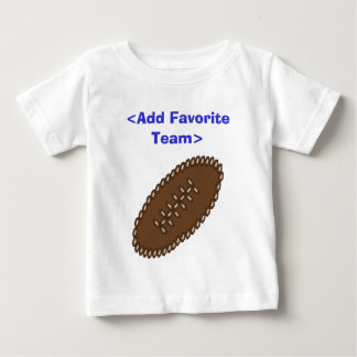 Customized Football with your team Baby T-Shirt