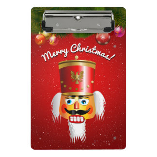Customized Funny Nutcracker Toy Soldier Mini Clipboard