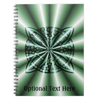 Customized Green Metallic Celtic Knot Notebook