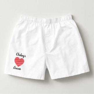 Customized Groom Wedding Men's Cotton Boxers