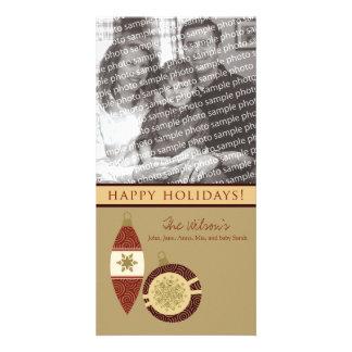 Customized Happy Holidays Ornament Design :: 03 Customized Photo Card