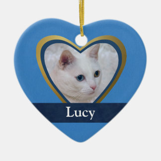 Customized Heart-Shape Pet Photo Frame Ceramic Ornament