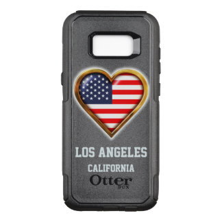 Customized Heart Shaped American Flag OtterBox Commuter Samsung Galaxy S8+ Case
