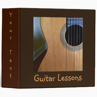 Customized Hip Musical Acoustic Guitar Lessons Binders