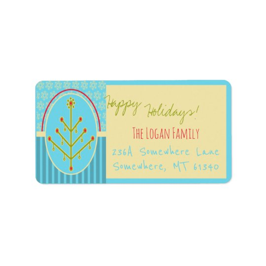 Customized Holiday Address Labels Modern Design