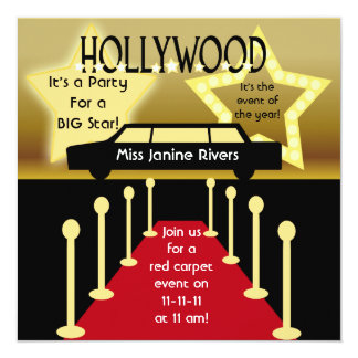 Customized Hollywood Glamour Birthday Invitation
