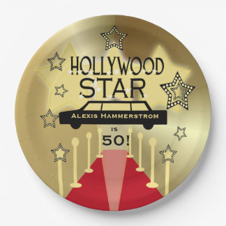 Customized Hollywood Star Birthday Paper Plates