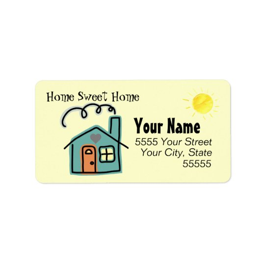 Customized Home Sweet Home Return Address Labels
