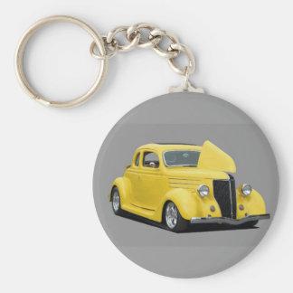customized hot rod car keychain