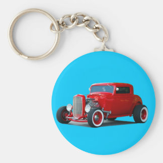 customized hot rod keychain