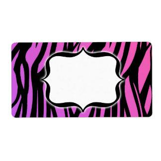Customized Hot Zebra Blank Label Shipping Label
