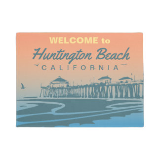 Customized Huntington Beach Pier Design Doormat