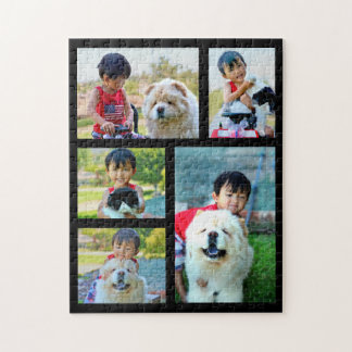 Customized Image Collage 5 Photo Jigsaw Puzzle