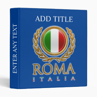 Customized Italian Flag Vinyl Binders