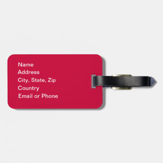 Customized Keep Calm Travel On Premium Luggage Tag