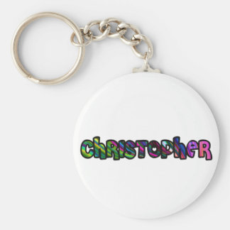 Customized key ring Christopher