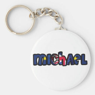 Customized key ring Michael