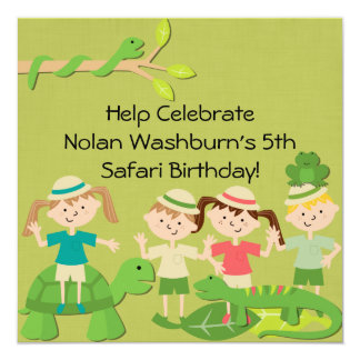 Customized Kids Safari Birthday Invites