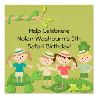 Customized Kids Safari Birthday Invites
