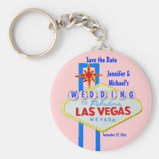 Customized Las Vegas Wedding Sign Basic Round Button Keychain