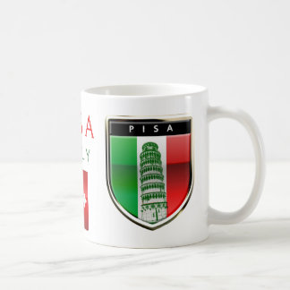 Customized Leaning Tower of Pisa and Pisan Cross Coffee Mug