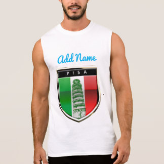 Customized Leaning Tower of Pisa Sleeveless Shirt