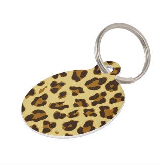 Customized Leopard Animal Print Pattern Pet Tag