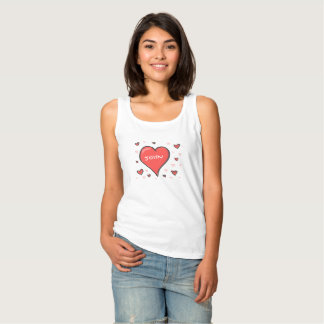 Customized Love Heart Lady's Tank Top