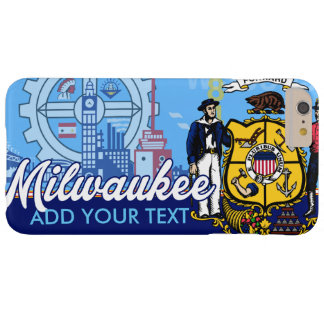 Customized Milwaukee Wisconsin Flag Barely There iPhone 6 Plus Case
