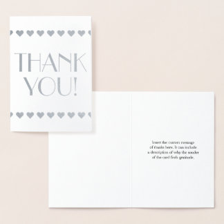 "Customized & Minimal ""THANK YOU!"" Card"
