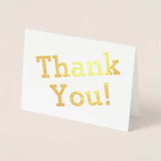 "Customized, Minimal ""Thank You!"" Card"