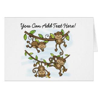 Customized Monkey Shine Note Cards