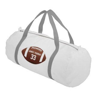 Customized Monogram Name and Number Football Gym Bag