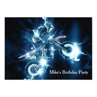 Customized Motocross Invitation