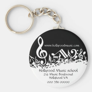 Customized Musical Notes Business Advertising Keychain