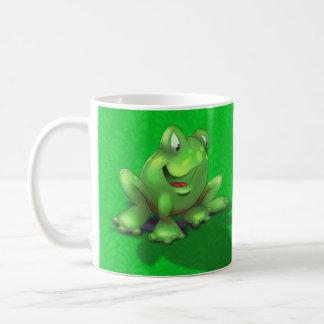 customized name cute cartoon frog green coffee mug