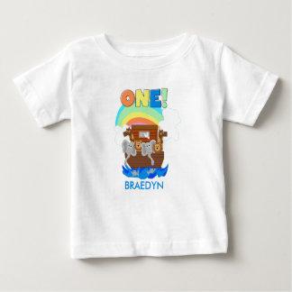 Customized Noah's Ark Baby 1st Birthday T-shirt