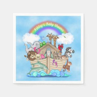 Customized Noah's Ark Baby Shower Paper Napkins