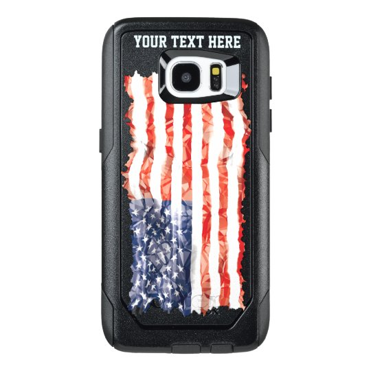 Customized Old Creased American Flag
