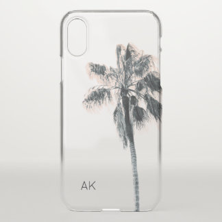 Customized Palm Tree iPhone X case - clear