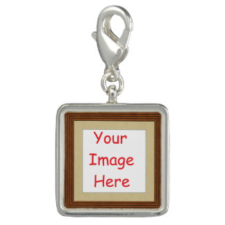 Customized personalized framed add your picture to photo charm