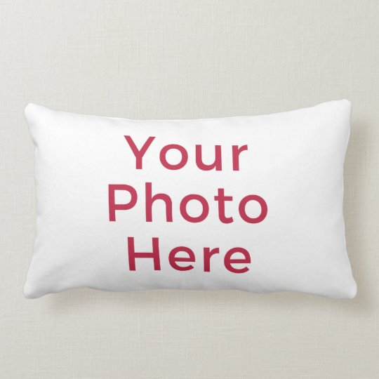 Customized Personalized Photo Double Sided DIY Lumbar Pillow