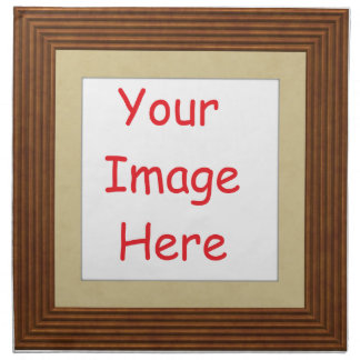 Customized personalized printed frame picture - napkin