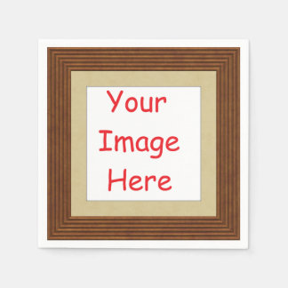 Customized personalized printed frame picture - paper napkin