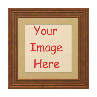 Customized personalized printed frame picture - wood wall art