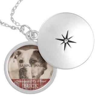 Customized Pet Photo Memorial Keepsake Round Locket Necklace