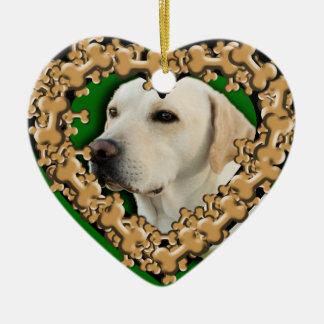 Customized Pet Photo with Dog Bones Ornament