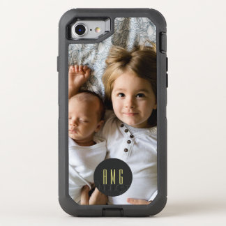 Customized Photo | Monogrammed OtterBox Defender iPhone 8/7 Case