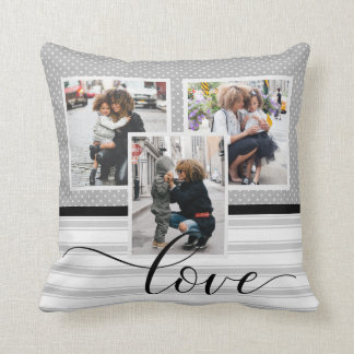 "Customized Photo Template ""Love"" Throw Pillow"